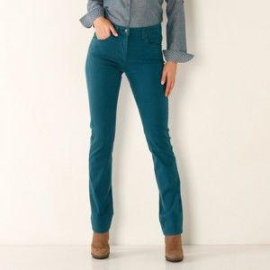 Blancheporte Tvarující kalhoty s 5 kapsami tyrkysová 54