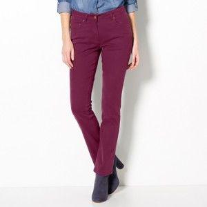 Blancheporte Strečové rovné kalhoty bordó 40