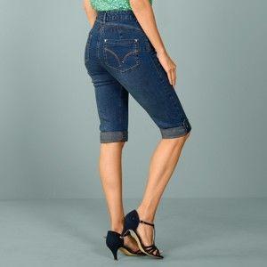 Blancheporte Korzárské kalhoty s push-up efektem modrá 38