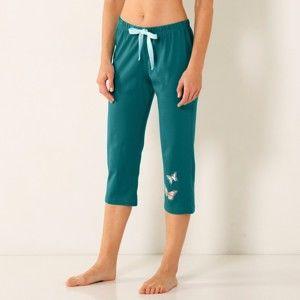 Blancheporte Kalhoty pyžamové, délka 51 cm smaragdová 52