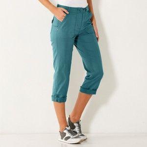 Blancheporte 3/4 rovné kalhoty tyrkysová 46