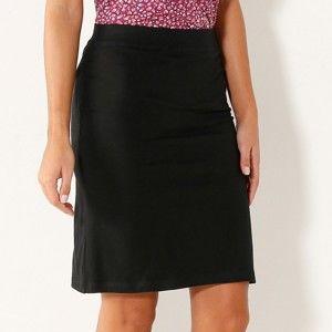 Blancheporte Rovná jednobarevná sukně černá 52