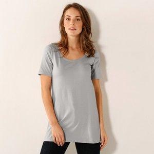 Blancheporte Dlouhé tričko perlově šedá 50