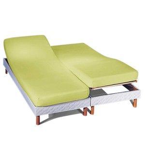 Blancheporte Napínací prostěradlo na polohovací postele, polycoton anýzová napínací prostěradlo 160x200cm