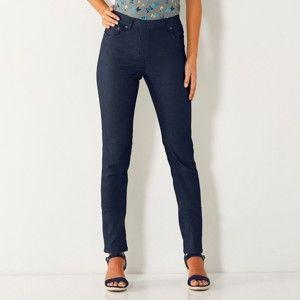 Blancheporte Strečové kalhoty v zeštíhlujícím střihu modrošedá 46