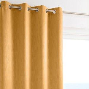 Blancheporte Zatemňovací závěs frappé, zn. Colombine žlutá 140x180cm
