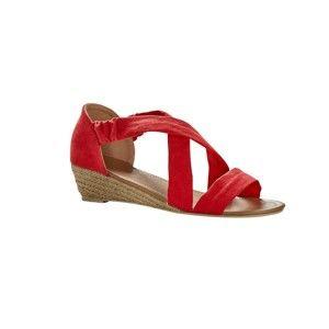 Blancheporte Sandály v semišovém vzhledu červená 36