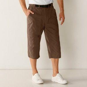 Blancheporte 3/4 kalhoty s integrovaným opaskem béžová tmavá 52/54