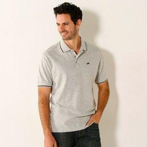 Blancheporte Polo tričko s krátkými rukávy šedý melír 137/146 (4XL)