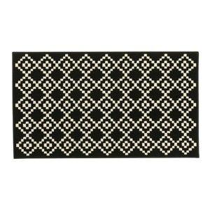 Blancheporte Koberec s kosočtverci černá 120X170