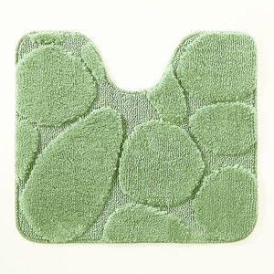 Blancheporte Koupelnová předložka, Oblázky zelená 50x80cm