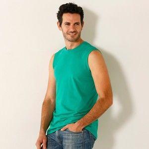Blancheporte Tričko bez rukávů, sada 3 ks modrá+oranžová+zelená 87/96 (M)