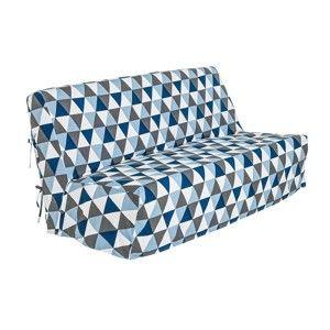Blancheporte Potah na pohovku clic-clac s potiskem modrá/šedá 140x190cm