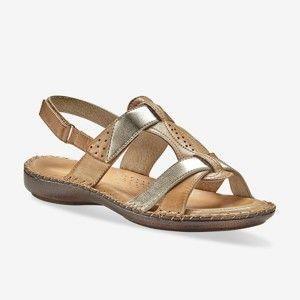 Blancheporte Dvoubarevné kožené sandály, béžové béžová 41