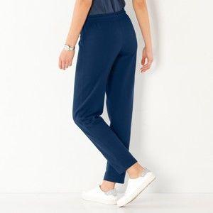 Blancheporte Meltonové sportovní kalhoty námořnická modrá 50