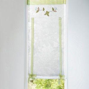 Blancheporte Vytahovací záclonka Orchidej zelená 45x160cm