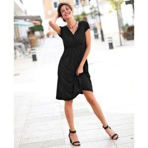 Blancheporte Splývavé úpletové šaty černá 38/40