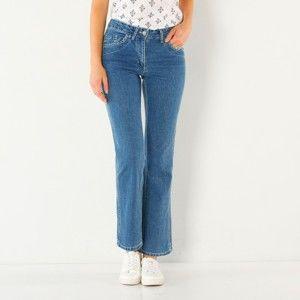 Blancheporte Zeštíhlující džínové kalhoty, nižší postava sepraná modrá 56