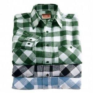 Blancheporte Flanelová košile, sada 3 ks zelená+černá+modrá 45/46