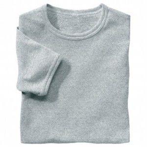 Blancheporte Spodní tričko s kulatým výstřihem, sada 3 ks šedý melír 125/132 (4XL)