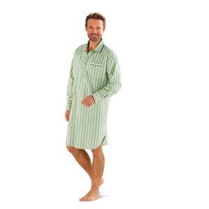 Blancheporte Pánská noční košile, popelín zelená 87/96 (M)