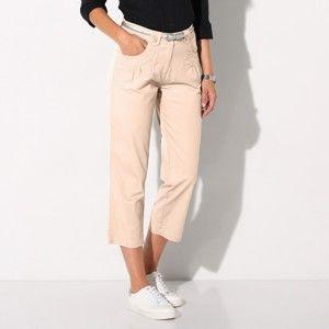 Blancheporte 3/4 kalhoty klasického střihu béžová 40