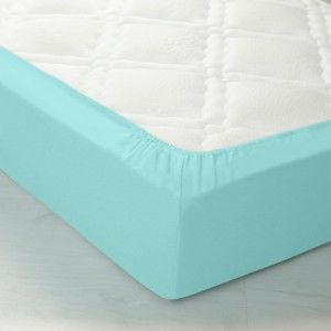 Blancheporte Napínací prostěradlo pro vysoké matrace, flanel blankytně modrá napínací prostěradlo 90x190cm