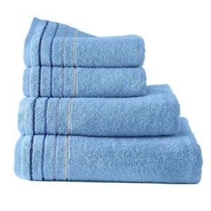 Blancheporte Froté ručník s pruhy, zn. Colombine světle modrá osuška 70x130cm