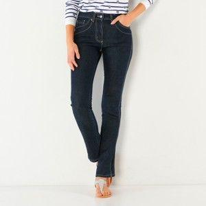 Blancheporte Zeštíhlující džínové kalhoty, střední postava modrá 44