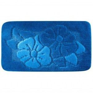Blancheporte Koupelnová předložka, Květy modrá WC 50x40cm