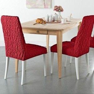 Blancheporte Extra pružný potah s reliéfní strukturou na židli bordó univerzální