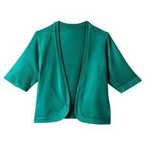 Blancheporte Bolerko s krátkými rukávy zelená 50