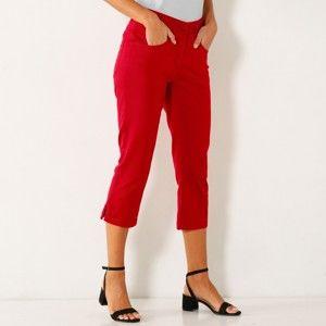 Blancheporte 3/4 kalhoty s rozparky červená 38