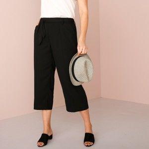 Blancheporte 3/4 široké kalhoty černá 52