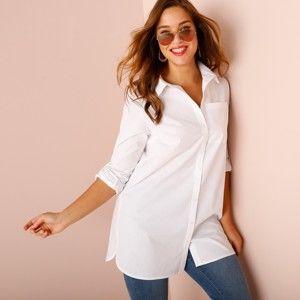 Blancheporte Jednobarevná košile bílá 48