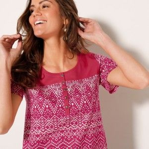 Blancheporte Tuniské tričko s etno vzorem 50