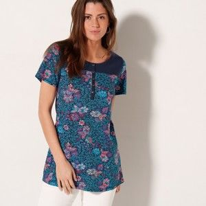 Blancheporte Tuniské tričko s potiskem květin 34/36