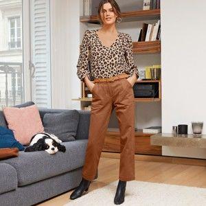 Blancheporte 7/8 široké kalhoty karamelová 50