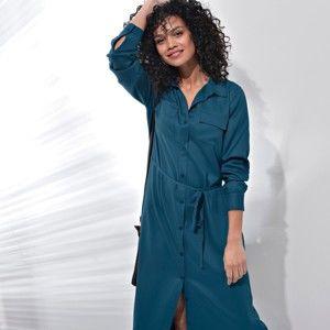 Blancheporte Dlouhé košilové šaty inkoustová 38