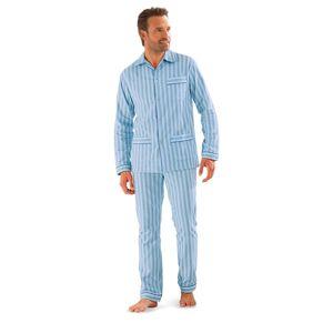 Blancheporte Klasické pyžamo, popelín modrá 137/146 (4XL)
