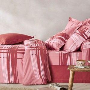 Blancheporte Povlečení Augustýn, bavlna zn. Colombine růžová pudrová povlak na přikrývku 240x220cm