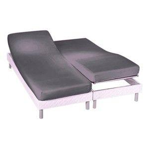 Blancheporte Napínací prostěradlo na polohovací postele, bavlněný žerzej antracitová napínací prostěradlo 160x200cm