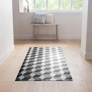 Blancheporte Vinylový koberec, efekt 3D černá/šedá/bílá 65x150cm