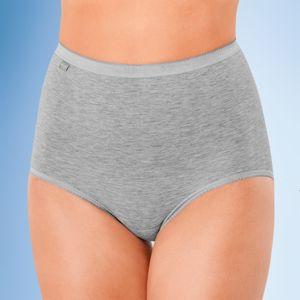 Blancheporte Kalhotky Sloggi, střih maxi, 3+1 zdarma* šedý melír 40