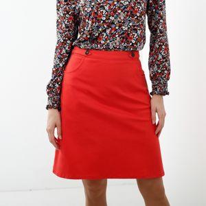 Blancheporte Jednobarevná rozšířená sukně korálová 38