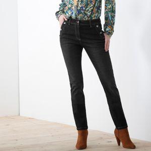 Blancheporte Džíny s kapsami na knoflík černá 40