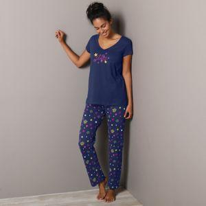 Blancheporte Pyžamové kalhoty s potiskem hvězdiček Estrella námořnická modrá 38/40