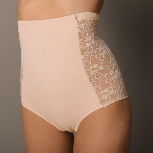 Blancheporte Kalhotky s vysokým pasem s krajkou, intenzivní zpevnění tělová 38