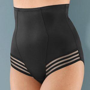 Blancheporte Tvarující kalhotky s vysokým pasem, efekt plochého bříška černá 044
