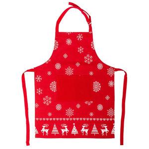 Blancheporte Kuchyňská zástěra vánoční červená/bílá 60x80cm